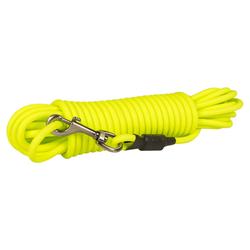 Duvo+ South Langlaufleine PVC rund neongelb, Maße: 15 m / 8mm