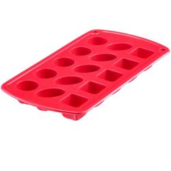 WESTMARK Classic Silikon-Pralinenform, rot, Auch für die Herstellung von Eiswürfeln, Eiskonfekt, Puddingformen oder Butterst, Größe: 12,0 x 22,0 x 1,9 cm