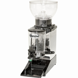 Tauro Kaffeemühle, Elektrische Mahlmaschine aus Edelstahl für bis zu 1 kg Kaffeebohnen, Auffangbehälter für bis zu 600 g Kaffeemehl
