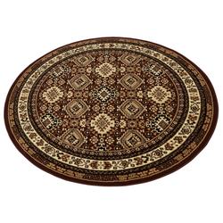 Teppich Diantha, my home, rund, Höhe 9 mm, Orient - Dekor braun