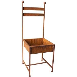 Stuhl zum Bepflanzen Rost Gartendeko Edelrost 114cm rostige Gartendeko