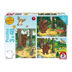 Schmidt Spiele Puzzle Wer hat Angst vorm Grüffelo 3x48 Teile, 144 Puzzleteile bunt