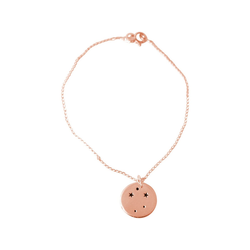 Gemshine Charm-Armband Horoskop Sternzeichen Libra Waage, Made in Spain rosa