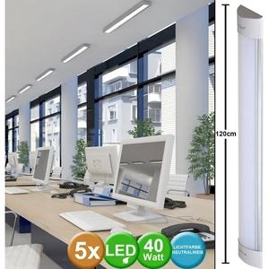 etc-shop Unterschrankleuchte, 5er Set LED Unterbau Decken Lampen Wohn Ess Zimmer Küchen Leuchten