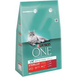 Purina One Sterilcat Rind und Weizen Katzenfutter 2 x 3 kg
