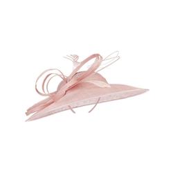McBurn Strohhut Fascinator rosa