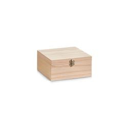 HTI-Living Aufbewahrungsbox Aufbewahrungsbox, Holz mit Metallverschluss (1 Stück), Aufbewahrungsbox 20 cm x 9.5 cm
