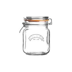 KILNER Bügelverschlussglas eckig 1,0 Liter Vorratsglas Einweckglas