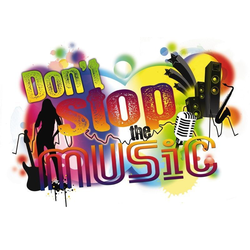 Komar Decosticker Dont stop the Music 100 x 70 cm