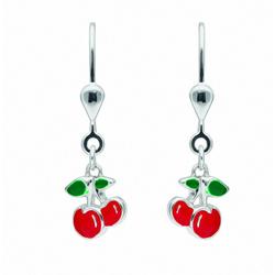 Adelia´s Paar Ohrhänger 925 Silber Ohrringe / Ohrhänger Kirsche
