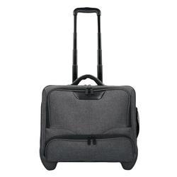 Dermata 2-Rollen Businesstrolley 42  cm Laptopfach grau