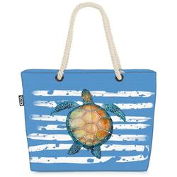 VOID Strandtasche (1-tlg), Schildkröte Strand Meer See Terrarium grau