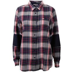 Lee Damen Freizeithemd One Pocket Shirt Twill Check Medival Blau XS