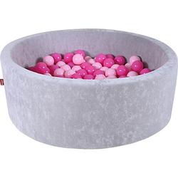 Bällebad, 300 Bälle, rosa grau