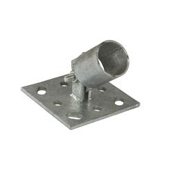 Pfostenträger Einschlaghülse Strebenplatte f. Zaunpfosten Ø 34 mm