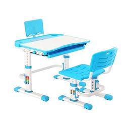 Natsen Kinderschreibtisch (Schreibtisch-Set, 2-St), mit Stuhl, höhenverstellbares Schreibtisch-Set für Kinder, neigbarer Schreibtisch mit Schublade (Blau) blau