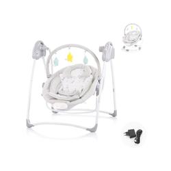 Chipolino Babywippe Babywippe Paradise, Babyschaukel Vibration Musik Spielbogen ab Geburt grau