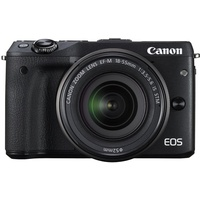 Canon EOS M3 schwarz + EF-M 18-55 mm IS STM