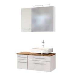 Badmöbel Set mit Waschtischkommode LED Beleuchtung (3-teilig)