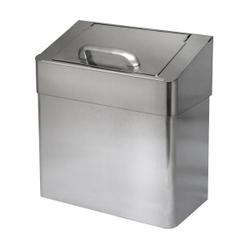 racon® X Mülleimer cover lady, ca. 7 Liter, Geruchsdichter Mülleimer aus gebürstetem Edelstahl, H 320 mm, B 290 mm, T 150 mm