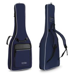 Rocktile Klassik-Gitarrentasche 3/4 & 7/8 - gepolstert mit Rucksackgarnitur blau