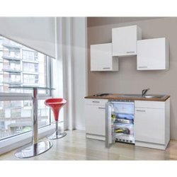 Respekta Küchenzeile KB150WW 150 cm Weiß