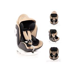 Lorelli Autokindersitz Kindersitz Lusso, SPS, Isofix, Gruppe 0+/1/2/3, 9.5 kg, (0-36 kg), Sitz drehbar natur
