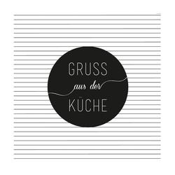 """Räder Design Papierserviette SERVIETTE """"GRUSS AUS DER KÜCHE"""""""