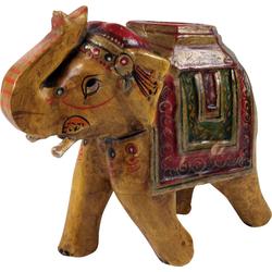 Guru-Shop Dekofigur Deko Elefant aus Indien, bemalte, indischer.. gelb