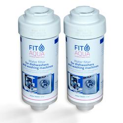 2x FitAqua Wasserfilter für Waschmaschine, Spülmaschine