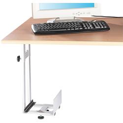 Platzsparende PC-Halterung für Untertisch-Montage