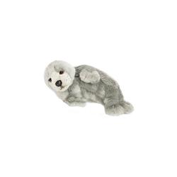 WWF Kuscheltier WWF Robbe, grau auf der Seite liegend 24cm