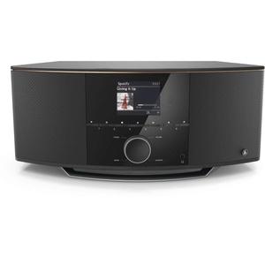 Hama DAB Radio Internetradio Bluetooth & DAB+ DIR150BT (Digitalradio WLAN, Spotify, Amazon Music, Bluetooth, Küchenradio mit UKW, USB, AUX, 90W, Farbdisplay, Radiowecker und Fernbedienung) schwarz