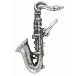 Adelia´s Kettenanhänger 925 Silber Anhänger Saxophon
