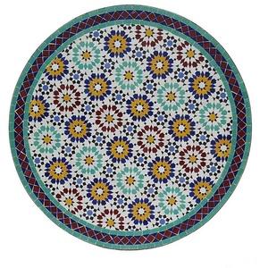 Casa Moro Gartentisch Marokkanischer Mosaiktisch Ankabut Ø 100cm rund mit Gestell H 73 cm Kunsthandwerk aus Marrakesch, Mediterraner Gartentisch Esstisch Balkontisch Bistrotisch MT2225, Handmade