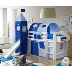 Rutschbett in Blau und Weiß Rutsche und Turm