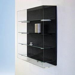FORUM Wandvitrine mit Acrylglashaube b80xt20xh80cm