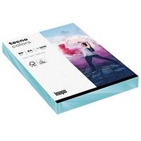 tecno Kopierpapier, colors mittelblau, DIN A4, 80g/qm, 100 Blatt