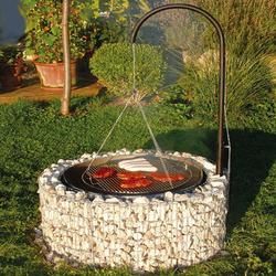 bellissa Gabionen Grill 92 cm Grillplatz Feuerstelle Barbecue BBQ