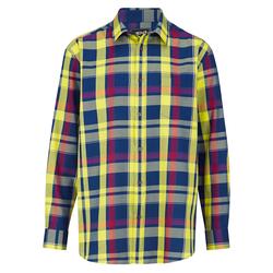 Hemd Men Plus Blau/Rot/Gelb