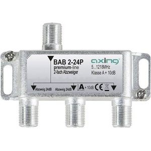 Axing Kabel-TV Abzweiger BAB 2-24P 2-fach 5 - 1218MHz