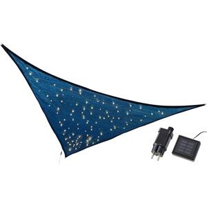 kamelshopping Sonnensegel Sonnensegel mit LED Solar Beleuchtung, dreieckig, ca. 3,25 x 3,25 x 3m, Polyethylen, Sonnenschutz mit Lichterkette, Funkelmodus, 110 LEDs, warmweiß