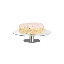 relaxdays Tortenplatte Tortenplatte drehbar mit Standfuß, Glas