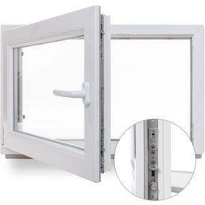 Panorama 24 Kellerfenster - Kunststoff - Fenster - weiss - BxH: 60x40 cm - DIN rechts - Sicherheitsbeschlag