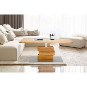 Home affaire Couchtisch Jan, aus massiver Wildeiche, höhenverstellbar von 47 auf 66 cm