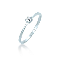 Diamore Diamantring Verlobungsring Diamant 0.10 ct. 585 Weißgold, Verlobungsring 52