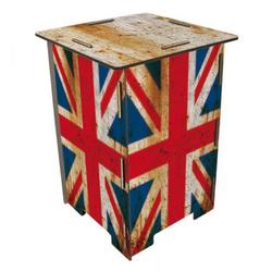 WERKHAUS® Hocker Werkhaus - Hocker Kinderhocker Sitzmöbel Tritt, Holz, Flagge England