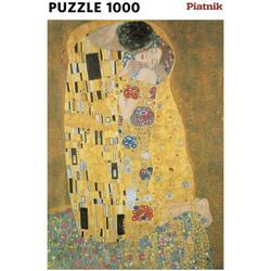 Piatnik Puzzle Gustav Klimt Der Kuss Metallic 1000 Teile Puzzle, Puzzleteile