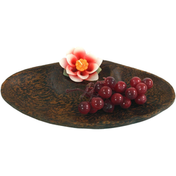 Guru-Shop Dekoschale Schale aus Kokosholz, Kokosschale Muschel -.. 28 cm x 3 cm x 14 cm