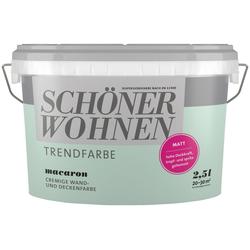 SCHÖNER WOHNEN-Kollektion Wand- und Deckenfarbe Trendfarbe Macaron, matt, 2,5 l